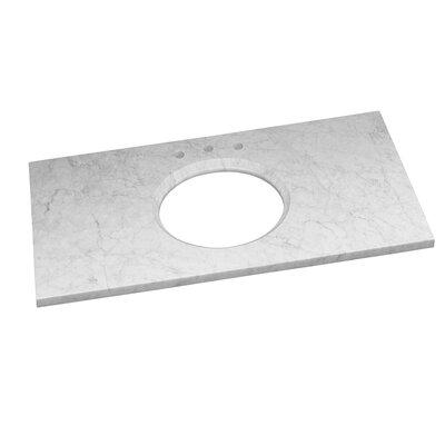 Single Undermount 43 Single Bathroom Vanity Top Top Finish: Carrara White