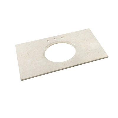 Single Undermount 43 Single Bathroom Vanity Top Top Finish: Cream Beige