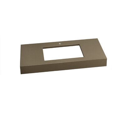 WideAppeal? 36 Single Bathroom Vanity Top Finish: Grand Green, Faucet Mount: Single
