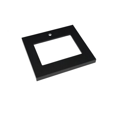 24 Appeal Vanity Top for Undermount Sink Top Finish: Broad Black, Faucet Mount: Single Hole