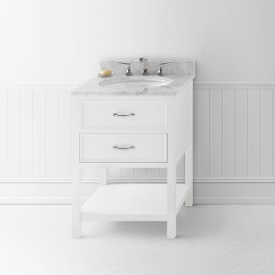 Newcastle 24 Single Bathroom Vanity Base Base Finish: White