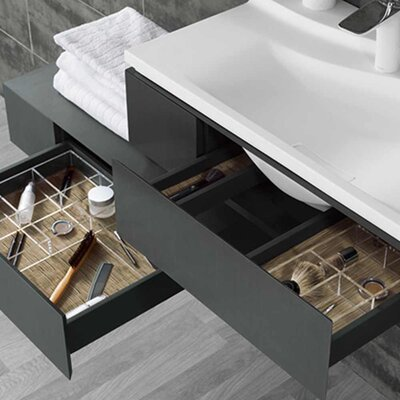 Vento 42 Single Bathroom Vanity Base