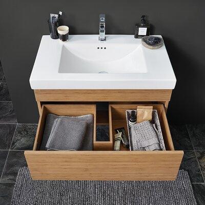 Rebecca 31 Single Bathroom Vanity Base Base Finish: Light Bamboo