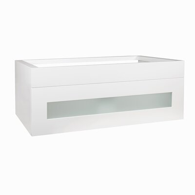 Rebecca 36 Double Bathroom Vanity Base Base Finish: Glossy White