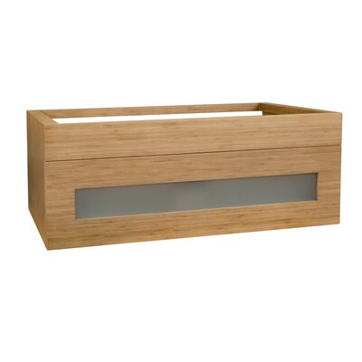 Rebecca 36 Double Bathroom Vanity Base Base Finish: Light Bamboo