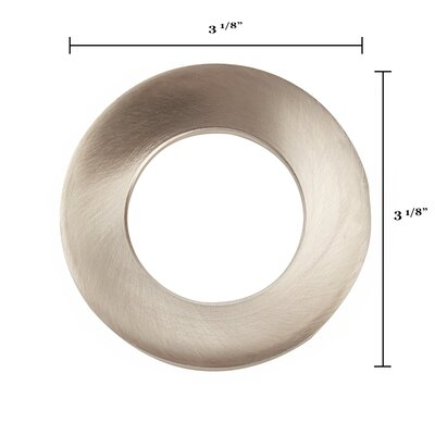 3.13 W x 0.88 H Mounting Ring for Glass Vessel Bathroom Sinks