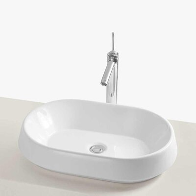 Brit Ceramic Oval Vessel Bathroom Sink