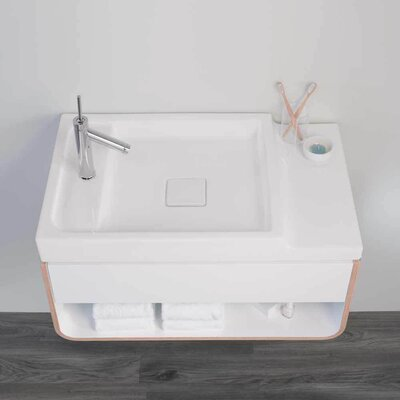 Unity Ceramic Rectangular Vessel Bathroom Sink