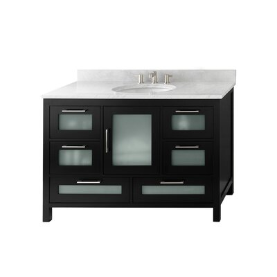 Athena 48 Bathroom Vanity Base Color: Black