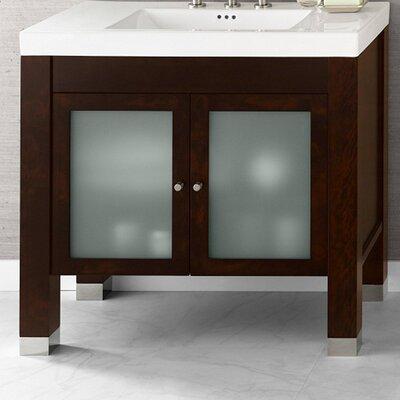 Devon 36 Single Bathroom Vanity Base Color: Vintage walnut