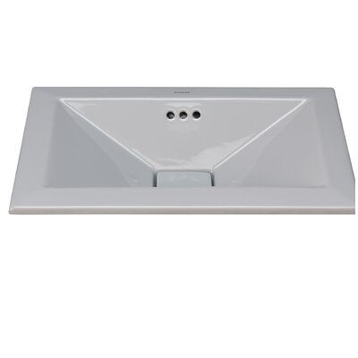 Pyramid Ceramic Rectangular Drop-In Bathroom Sink with Overflow Sink Finish: Cool Gray