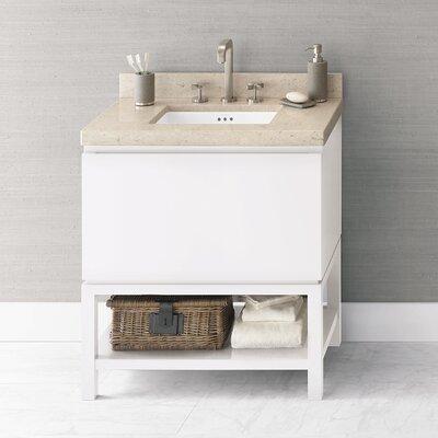 Jenna 31 Single Bathroom Vanity Base Finish: Glossy White