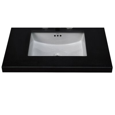 Essence Ceramic Rectangular Undermount Bathroom Sink with Overflow Finish: Cool Gray