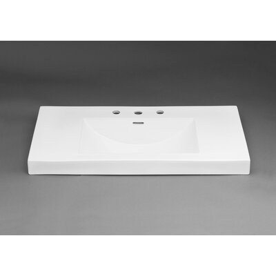Evin? Self Rimming Bathroom Sink 8 Faucet Mount: 8 Centers