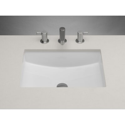Ceramic Rectangular Undermount Bathroom Sink with Overflow Sink Finish: White