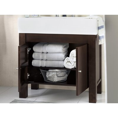 Devon 36 Bathroom Vanity Base Cabinet in Vintage Walnut