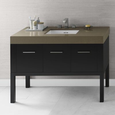 Calabria 48 Single Bathroom Vanity Base Finish: Black