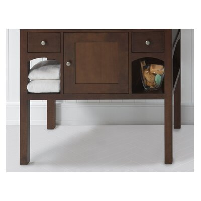 "Langley 36"" Bathroom Vanity Cabinet Base in Caf Walnut"