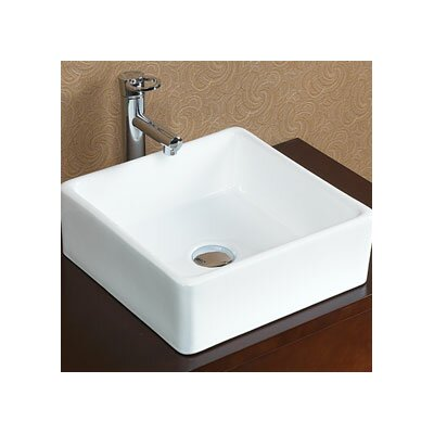 Tapered Ceramic Square Vessel Bathroom Sink