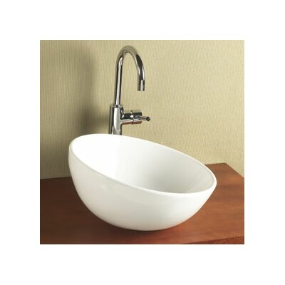 Sloped Rim Ceramic Rectangular Vessel Bathroom Sink