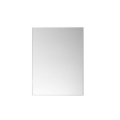 "Contemporary 24"" x 30"" Metal Framed Bathroom Mirror in Brushed Nickel"