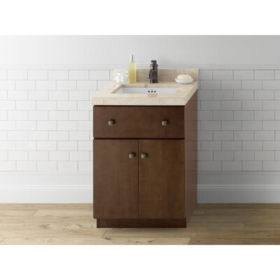 Amberlyn 24 Bathroom Vanity Cabinet Base in Caf� Walnut