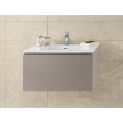 Ariella 31 Wall Mount Bathroom Vanity Base Cabinet in Blush Taupe