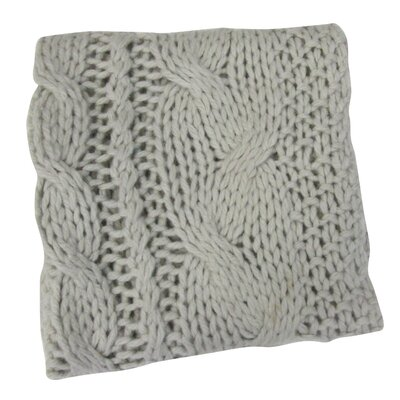 Bedford Cottage Hampton Hand Knitted Throw Blanket Color: Oyster