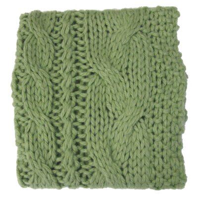 Bedford Cottage Hampton Hand Knitted Throw Blanket Color: Celery