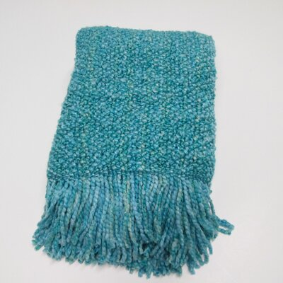 Kennebunk Campbell Decorative Throw Color: Aqua