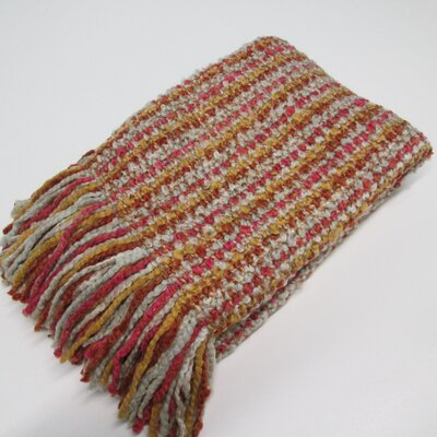 Kennebunk Stria Decorative Throw Color: Sherbet