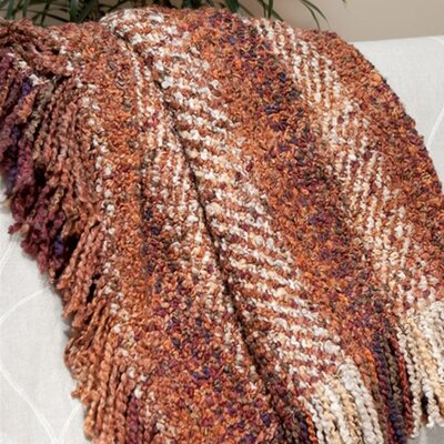 Kennebunk Woven Throw Color: Russet