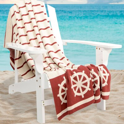 Castaway Cotton Throw Color: Nantucket Red