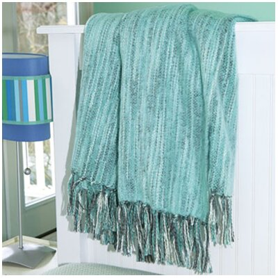 Bedford Cottage Zephyr Throw Blanket Color: Capri