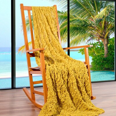 Summer Breeze Throw Color: Honey Gold