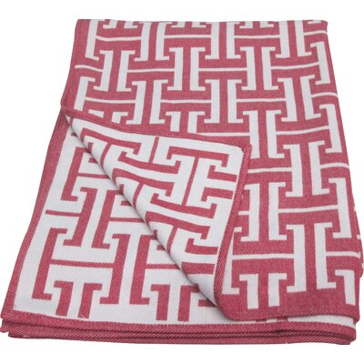 Bedford Cottage Decorative Throw Color: Rose