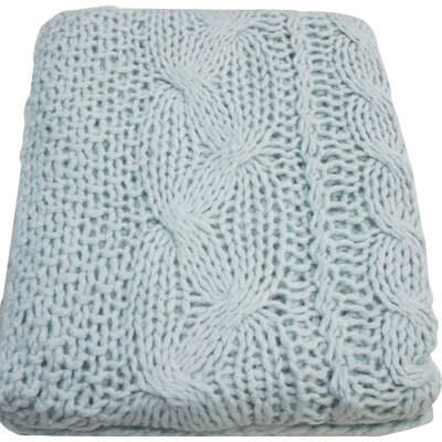 Bedford Cottage Hampton Hand Knitted Throw Blanket Color: Mist