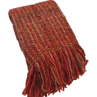 Kennebunk Stria Decorative Throw Color: Paprika
