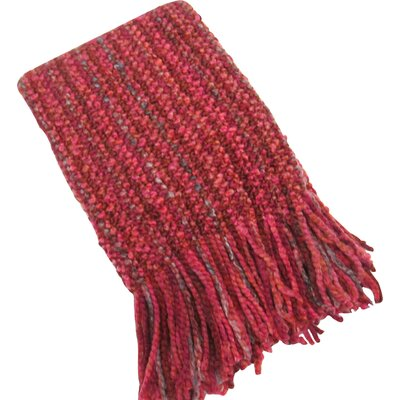 Kennebunk Stria Decorative Throw Color: Berry
