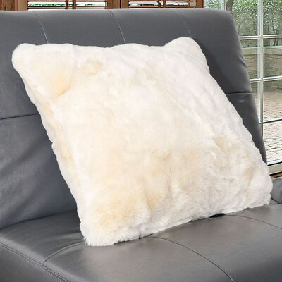 Arctic Faux Fur Throw Pillow Color: Cream