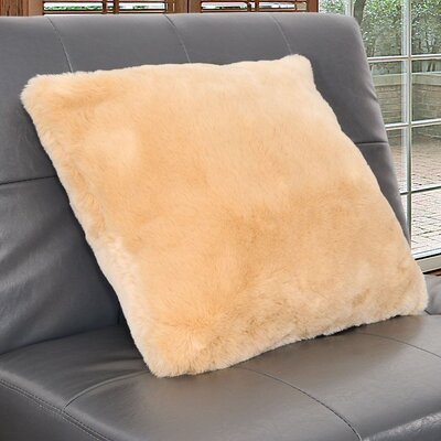 Arctic Faux Fur Throw Pillow Color: Caramel