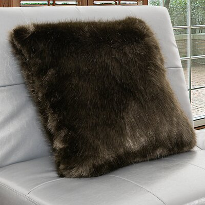 Arctic Faux Fur Throw Pillow Color: Espresso