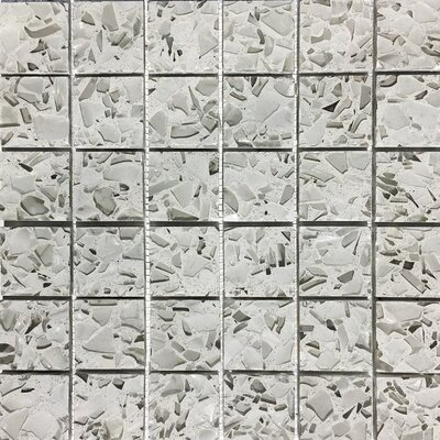 Vetrazzo 2 x 2 Glass Mosaic Tile in Polished Gray