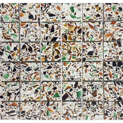 Vetrazzo 2 x 2 Glass Mosaic Tile in Polished Brown