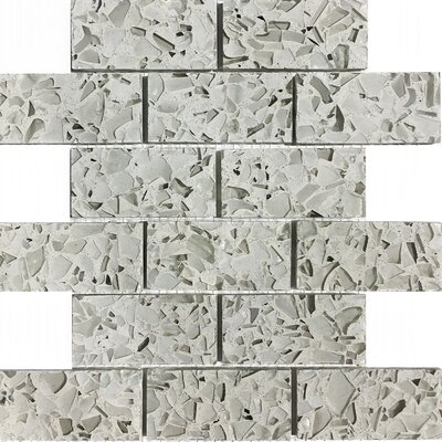 Vetrazzo Back 2 x 4? Mosaic Tile in Polished White/creams
