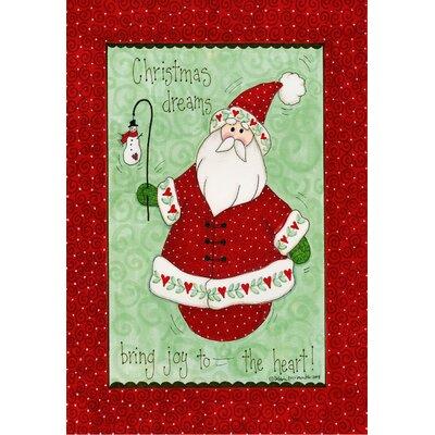 Christmas Dreams Bring Joy Garden Flag