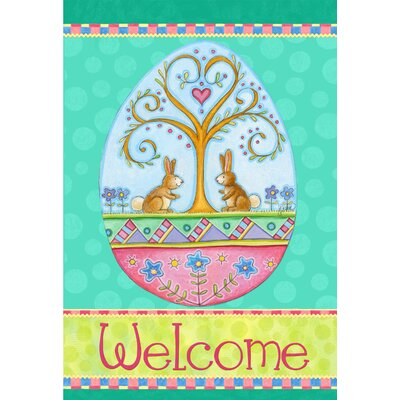 Welcome Easter Bunnies Garden Flag 22