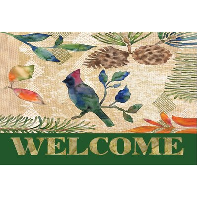 Sanantonio Painted Lodge Cardinal Doormat