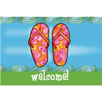 Welcome Flip Flops Doormat
