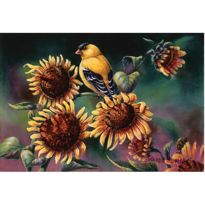Hickey Sunflower and Goldfinch Doormat